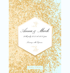 Glitter wedding invitation vector