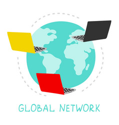 global network internet vector image