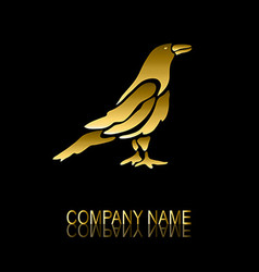 golden crow symbol vector image