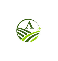 green project solution center initial a vector image
