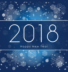 happy new 2018 year greetings banner with white vector image