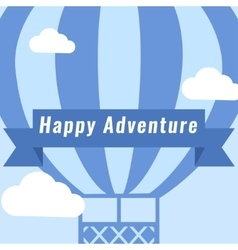 Hot air balloon vintage background vector