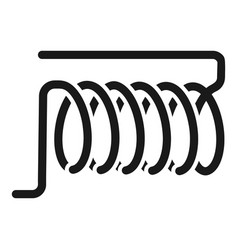 Induction coil icon simple style vector