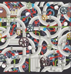 Industrial mechanical seamless pattern vector