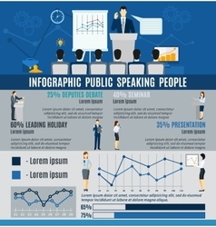 Infographic Public People Speaking From Podium vector