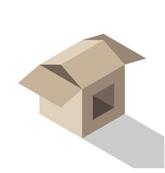 Isometric house shaped box vector
