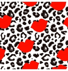 Leopard print pattern Repeating seamless vector