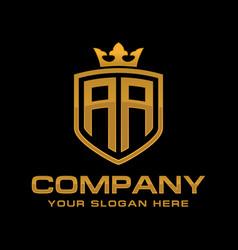 Letter aa initial logo luxury logo design vector