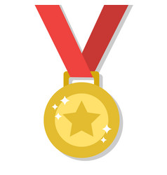 medal for the winner of the competition vector image