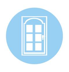 Modern house door icon vector