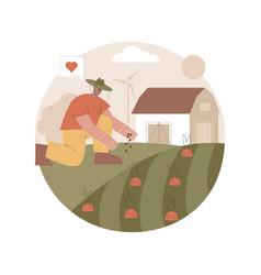 Natural farming abstract concept vector