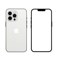 New iphone 13 pro silver color vector