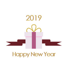 new year typographical cretaive background 2019 vector image