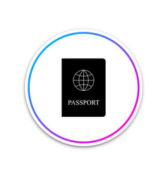 passport icon isolated on white background vector image
