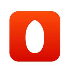 Pecan nut icon digital red vector
