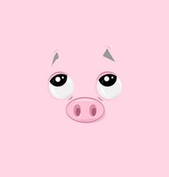 Pensive piggy vector