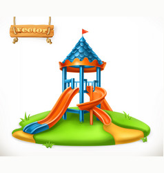 Playground slide play area for children 3d icon vector