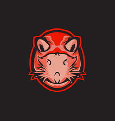 Rat head mascot vector