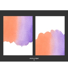 red and purple watercolor background vector image