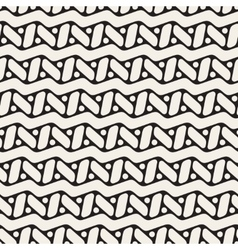Seamless black and white rounded zigzag vector