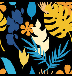 seamless pattern with tropicalexotic vector image