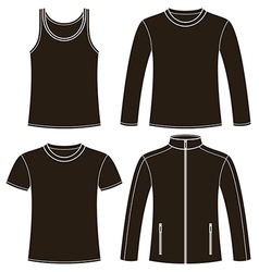 Singlet t-shirt long-sleeved t-shirt and jacket vector