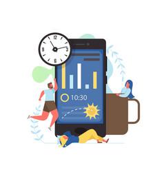 sleep app flat style design vector image