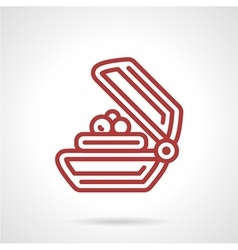 Soap bar red line icon vector