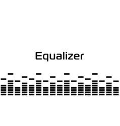 Sound digital wave simple black border music vector