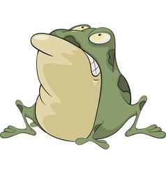 The green toad Cartoon vector