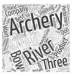 three rivers archery Word Cloud Concept vector image