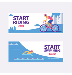 triathlon track start vector image