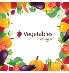 vegetables frame for your designs vector image