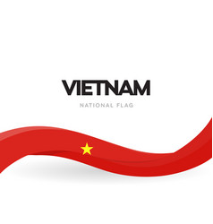 vietman flag wavy ribbon with colors of vector image