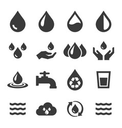 water icon set related eco vector image