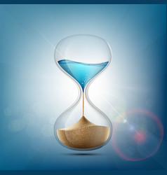 water in hourglass becomes a sand vector image