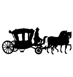 Whip horse and carriage vector