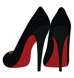Women heels on white background vector