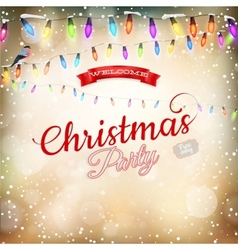 Christmas background withgarland EPS 10 vector image