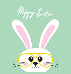 easter card bunny in glasses vector image vector image