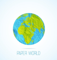 paper world isolated on white vector image