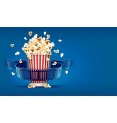Popcorn for cinema and movie vector image vector image