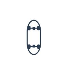 skateboard icon vector image