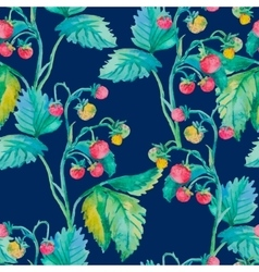 Strawberry pattern Watercolor Berries vector image