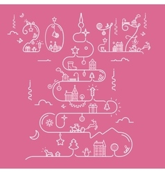 Christmas tree with 2017 inscription vector image vector image