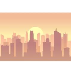 city flat skyline vector image vector image