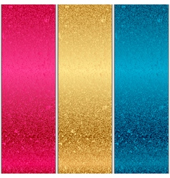 colorful metal textures vector image vector image