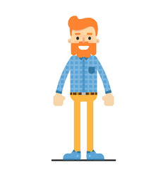 handsome redheaded bearded hipster character vector image