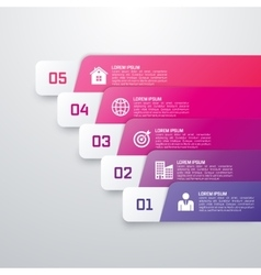 Infographic template from Colourful strips vector image
