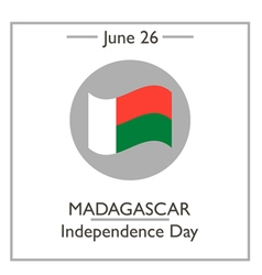 Madagascar Independense Day vector image vector image